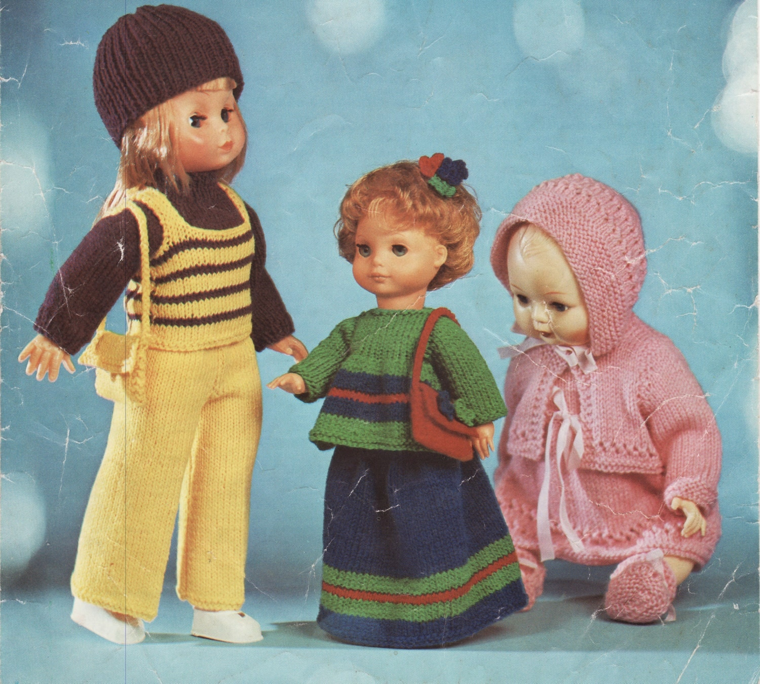 Knitting Patterns For Dolls Clothes 12 Inch : PDF Knitting Patterns, Knitted Dolls Clothes,12 inch doll ...