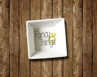 Fancy Things Ring Dish Vinyl Ring Dish Ring Holder Jewelry Holder Ceramic Ring Holder