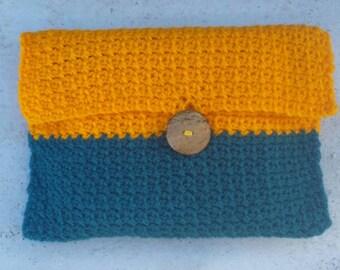 Crochet clutch purse/bag.