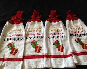 "Christmas ""Grandma"" towels"