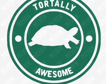 Tortally Awesome - Tortoise - Turtle - Layered Vinyl - Decal - Sticker - Bumper