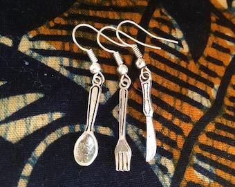 Cutlery Earring Set