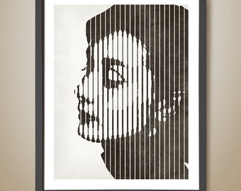 Audrey Hepburn Retro Print | Birthday Gift for Her | Christmas Gift for Her  Gift Ideas