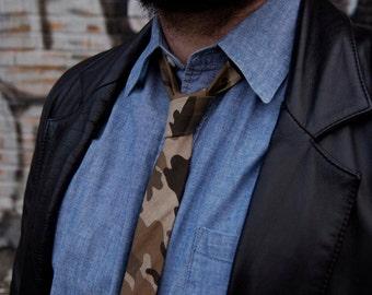 Twill Camo Skinny Tie