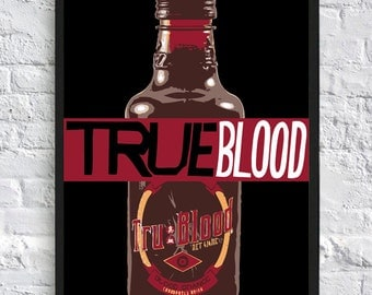True Blood Inspired Poster - Sookie Stackhouse - True Blood Drink - A4 - TV Poster