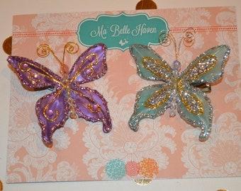 Butterfly hair pin set