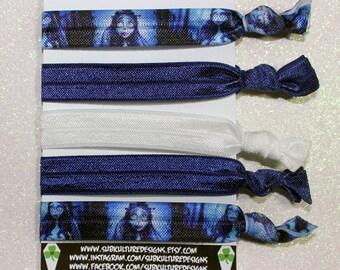 Corpse Bride Elastic Ties - Tim Burton - Hair ties - Elastic ties - wrist ties - Corpse Bride