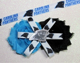 Carolina Panthers Clip or Headband - Panthers - Panthers clip - Panthers headband - Panthers baby headband