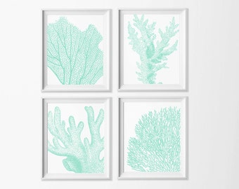 Neutral Beach Art Cottage Coral Wall Art , Beach Printable , Beige Wall Art, Dining Room Art , Neutral Nursery Art Beach , Seaside Bathroom