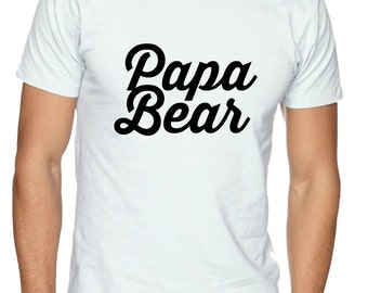 DIY Papa Bear Heat Transfer Iron On Appliqué