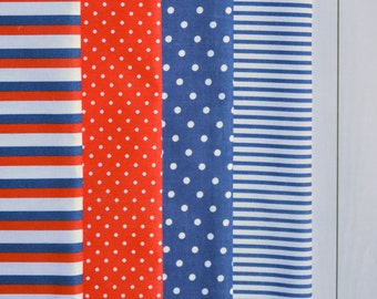 A set of fabrics for needlework. A set of 4 fabrics.