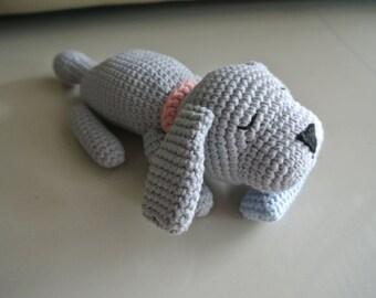 Sleepy Doggie Crochet Dog Amigurumi - Handmade Crochet Amigurumi Toy Doll - Dog Crochet - Amigurumi Dog
