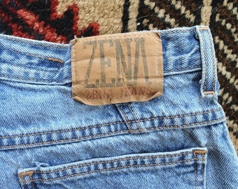 Zena high waist denim shorts || vintage jean shorts high waisted denim
