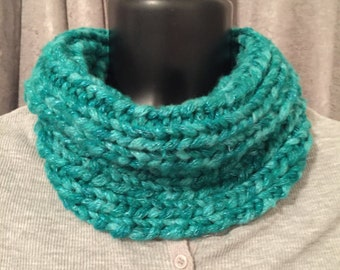 Knit neckwarmer, Neck wrap, neck warmer, cowl, neck scarf, infinity scarf, winter scarf, winter accessory, neckwrap,  soft chunky cowl