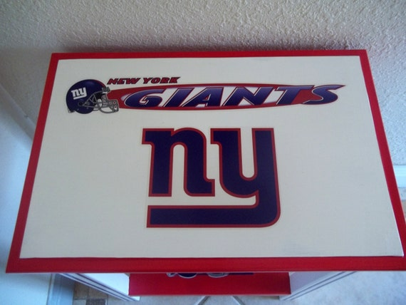 Ny Giants Man Cave Decor : Items similar to new york giants inspired sports table