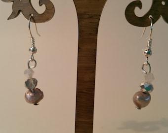 Fresh water Pearl drop earrings