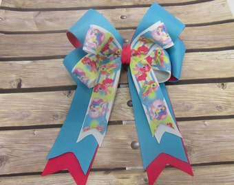 My Little Pony Stacked Tails Down Hair Bow, Cheer Bow