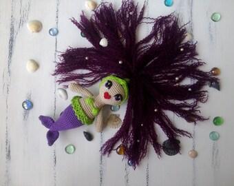 Crocheted mermaid, knitted toy, mermaid Сrochet, Soft toy,  mermaid toy, crochet animal toy,  mermaid amigurumi, mermaid nymph