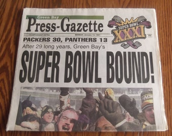 """Green Bay Packers """"Super Bowl Bound"""" Newspaper"""