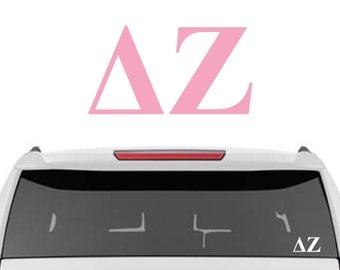 Delta Zeta Decal | DZ Decal | Sorority Car Decals, Sorority Vinyl Decal, Sorority Laptop Decal, Sorority Decal