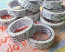 3 Roll 10 Yards Each Black/White Tape Scrapbooking Packaging Gift Sugar Paper Bag Decoration Deco Bake Food Party Wedding RO448