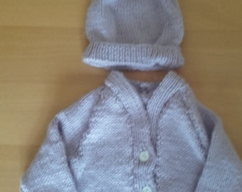 Newborn baby sweater, girl baby sweater, baby sweater, newborn sweater, sweater and hat, ready to ship