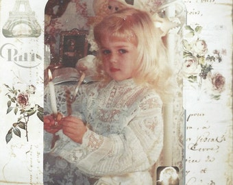 Corinne Layton Vintage Instant Digital Download Collage Card This Little Light of Mine (Suitable for Framing)