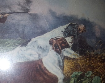 """A Chance for Both Barrels 16"""" x 12"""" American Field Sports - Currier & Ives"""