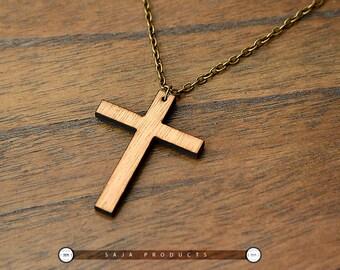 Wooden Cross Necklace/ Wood Cross Jewelry/ Cross necklace/ Unique Cross jewelry/ Best Gift for Christian