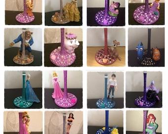 Disney Character Glitter Wine Glass