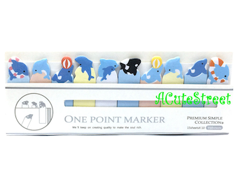 Dolphin 10in1 One Point Post IT Notes Sticky Memo SM072722