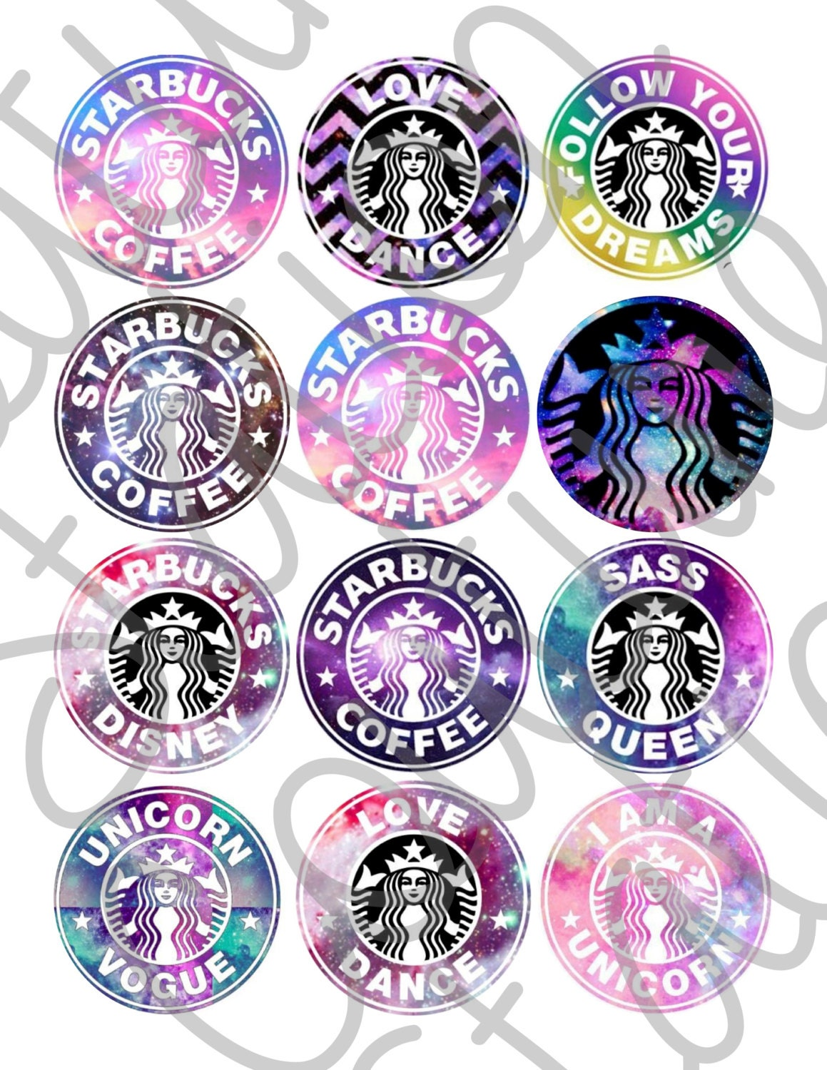 It is a graphic of Obsessed Starbucks Logo Printable