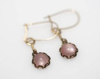 Pink Moonglow Earrings