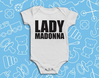 Lady Madonna | Short sleeved baby Vest / Grow / Bodysuit | Inspired by The Beatles