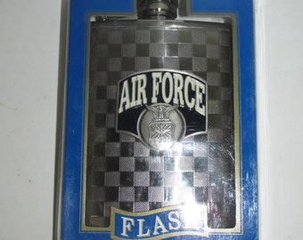 Vintage Air Force Pocket Flask Stainless Steel 8oz