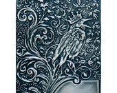 ON SALE Noble Rook Embossing Folder by Spellbinders 5x7 design Bird and Crown Embossing Folder