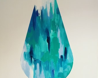 T h e   D r o p // Art Painting, ORIGINAL Painting, Acrylic Painting Abstract Painting, Australia