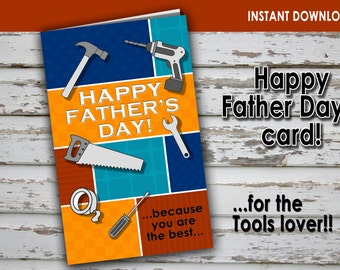 FATHER'S DAY CARD- Tools lover – Digital file