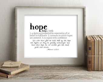 Crowns & Clay HOPE Defined Series Printable Art, Hebrews 6:18-19, Definition Print, Affordable Home Decor, Scripture, Typography