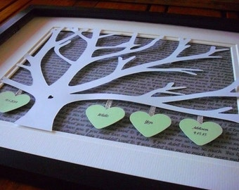 Personalized 3D Family Tree, Unique Wedding Gift For Couple, 1st Anniversary Gift For Couple, Wedding Song Lyrics