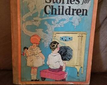 1929 Blue Network Stories for Children  Antique Book