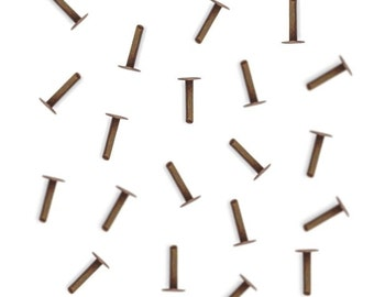 """1/4"""" Inch Vintaj Artisan Copper Nail Head Rivets Cold Connections Fastenable FN434"""