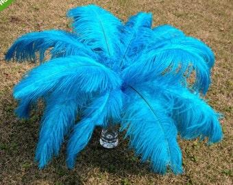 200pieces 12-14inchTurquoise Ostrich Feather,wedding centerpiece,ostrich feather centerpiece,wedding table centerpiece,wedding decoration