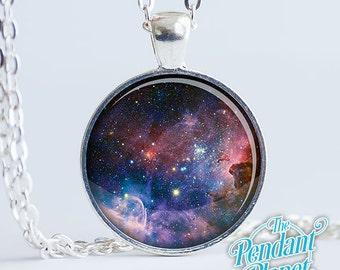 Carina Nebula Necklace, Space Jewelry, Night Sky Pendant, Milky Way Galaxy NGC 3372