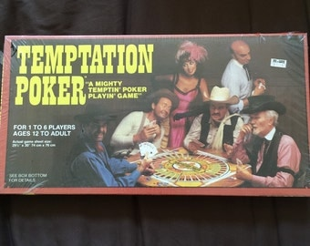 Vintage Board Game Temptation Poker