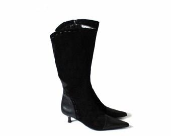 Kitten heel boots | Etsy