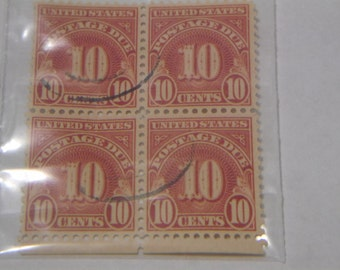 1931 U.S. Issue Postage Due Stamp 10 cent/ Block of 4
