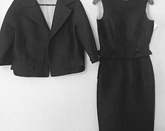 Awesome 60s black 3 piece suit by Dan Millstein