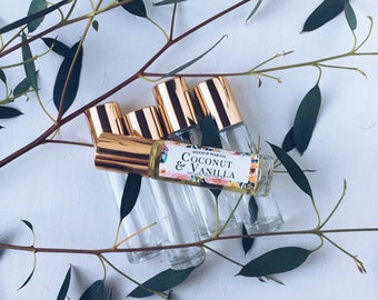 COCONUT & VANILLA Natural Roll-On Perfume | Natural Perfume