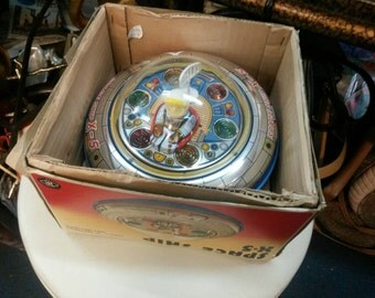 Vintage Space Ship X-5 Toy With Original Box
